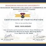 Haya Anasari from OCCM BMS Dept Got certificate (1)