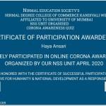 Haya Anasari from OCCM BMS Dept Got certificate (2)