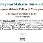 Haya Anasari from OCCM BMS Dept Got certificate (3)
