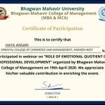Haya Anasari from OCCM BMS Dept Got certificate (4)