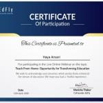 Haya Anasari from OCCM BMS Dept Got certificate (5)