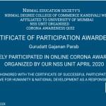 Prof. Gurudatt Parab from OCCM BSC.IT DeptGot certificate (1)