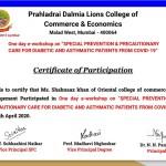 Shahnaaz Khan from OCCM Jr. College Got certificate (1)