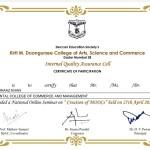 Shahnaaz Khan from OCCM Jr. College Got certificate (2)