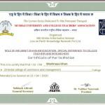 Shahnaaz Khan from OCCM Jr. College Got certificate (3)