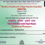 Shahnaaz Khan from OCCM Jr. College Got certificate (4)