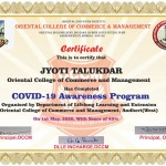 Jyoti Talaukdar from Jr. College Dept Got certificate-1
