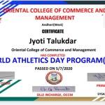 Jyoti Talaukdar from Jr. College Dept Got certificate-2