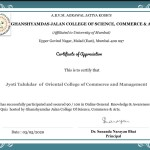 Jyoti Talaukdar from Jr. College Dept Got certificate-3