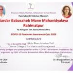 Miss Nikita Patil from Admin Dept Got certificate-1