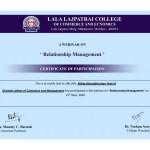 Miss Nikita Patil from Admin Dept Got certificate-3