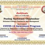 Pankaj Chiplunkar College Librarian Got certificate-1