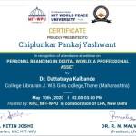 Pankaj Chiplunkar College Librarian Got certificate-5