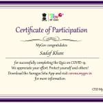Prof. Sadaf Khan from BMS Dept Got certificate-1